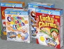 General Mills Mr Men and Little Miss Cereals