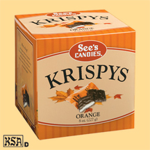 See's Candies Orange Krispys