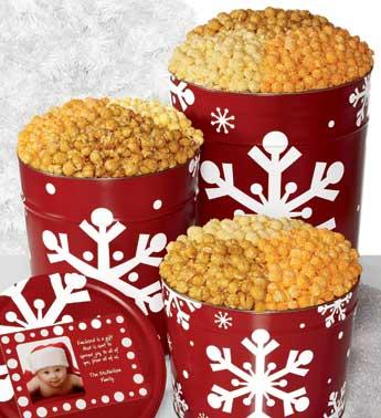 Popcorn Factory Christmas Tin