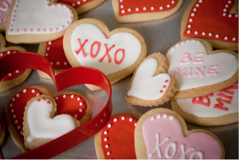 Madly Madagascar Valentine's Day cookies