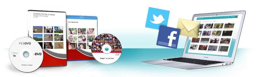 YesVideo Facebook movie integration jpg