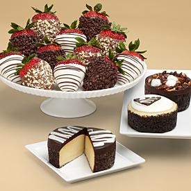 Shari's Berries Cheesecake and Strawberries