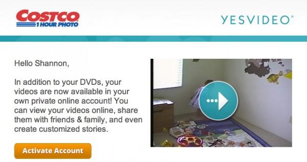 YesVideo Costco Video
