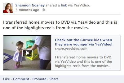 YesVideo on Facebook