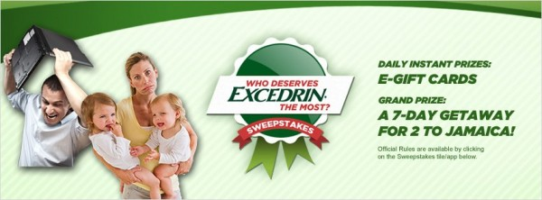 Excedrin Headache Sweepstakes