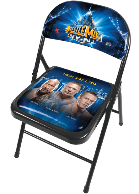 WWE Limited Edition Wrestlemania Chair from Kmart