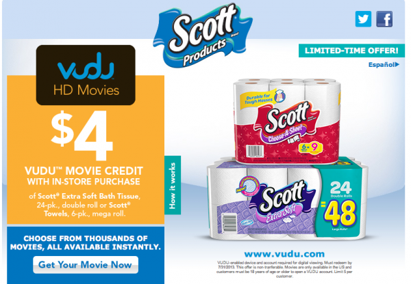 Scott Values Vudu Movie Coupon