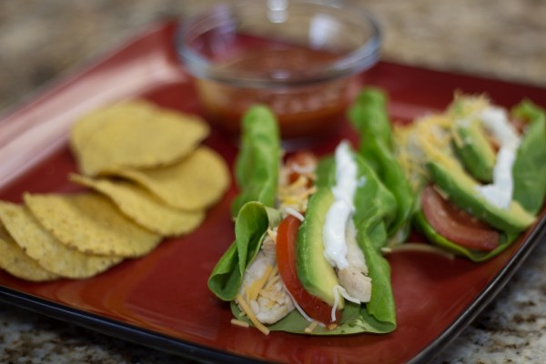 Lettuce-Wrapped Chicken Taco 5
