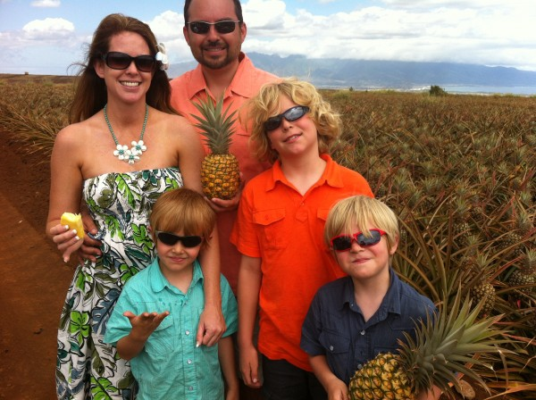Maui Pineapple Tour Family