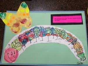 Carter's school work.
