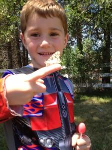 Happy butterfly, happier kid!