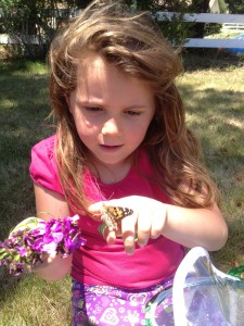 Caitlyn and her butterflies.