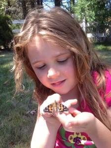 Caitlyn & her butterflies.