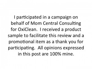 Mom Central OxiClean Disclosure