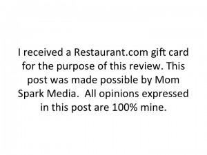 Restaurants.com Disclosure