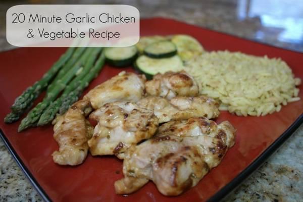 20 Minute Garlic Chicken & Vegetable Recipe #SauteExpress 1