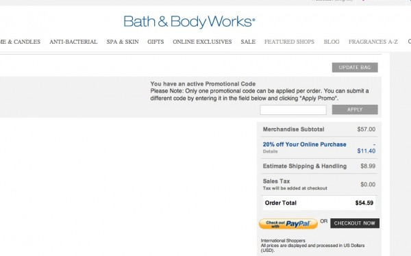Bath Body Works Coupons.com Promo 2