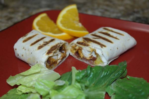 Cheesy Chicken Wrap Recipe 8