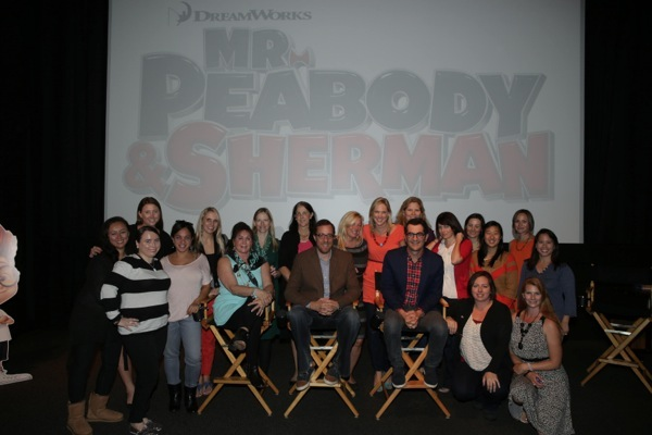 Tiffany Ward, Rob Minkoff, and Ty Burrell with Mommy Bloggers