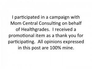 Mom Central Healthgrades App Disclosure