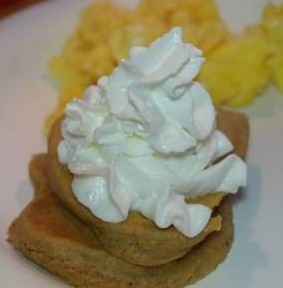 Kid-Friendly Hungry Jack Pumpkin Spice Pancakes with Whipped Cream