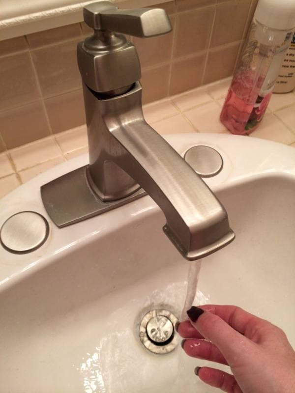 Moen Voss Brushed Nickel Handle Adjustable Deck Mount Bathtub - Moen icon bathroom faucet for bathroom decor ideas