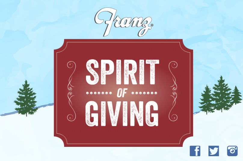 #Franz #SpiritOfGiving #Giveaway #ad