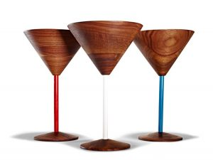 Wooden Cocktail Glasses TJ 29.99 ea