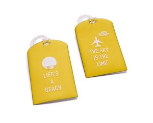 Yellow Luggage Tags 3.99e MA