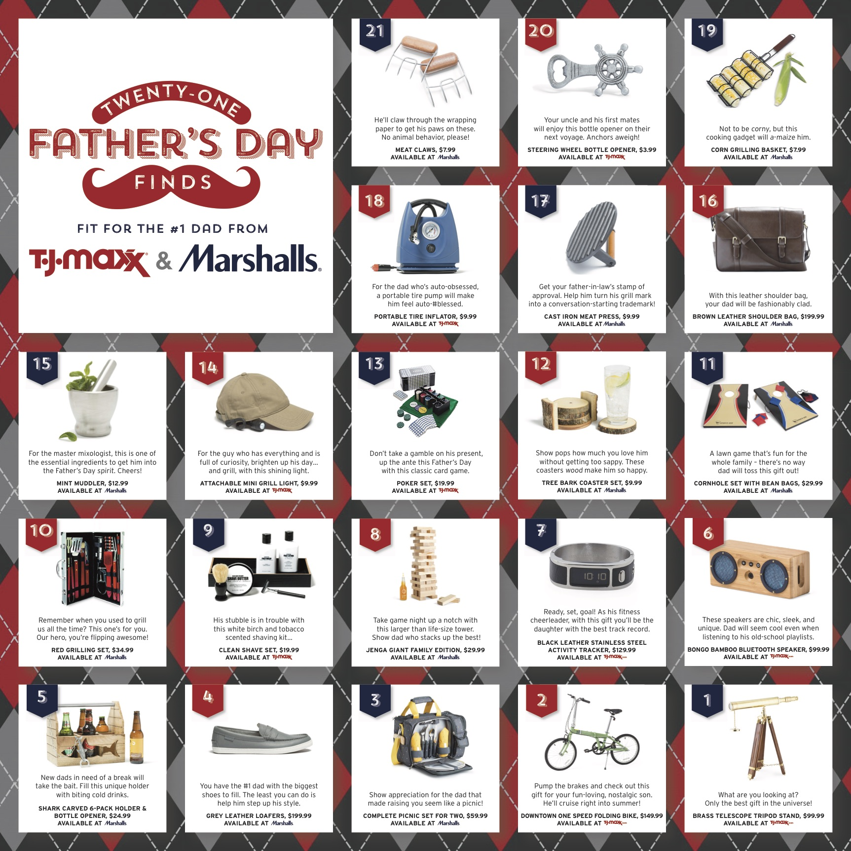 #FathersDay #Gifts #GiftGuide #TJMaxx #Marshalls #ad