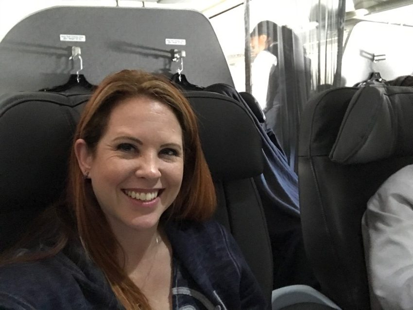 #FirstClass #Flying #Airplane #travel #blogger #travelblogger #redheadmom